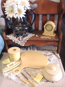 Vintage French ivory collection