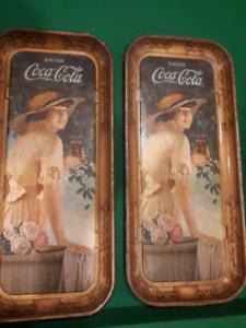 Original 1915 Elaine Coca Cola serving tray.