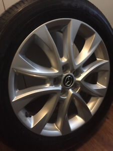 "Mazda OEM Rims 19"" 14.3 x 5 wheels w/ Toyo Tires (Look New)"