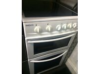 White beko 50cm ceramic hub electric cooker grill & oven good condition with guarantee