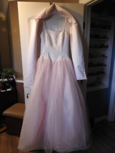 2pc floor length gown (with shawl) - fits XS