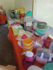 Moving Sale- including ++ new Tupperware