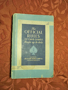 THE OFFICIAL RULES OF CARD GAMES Edmonton Edmonton Area image 1