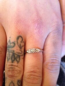 10K White Gold Engagement Ring 100 OBO