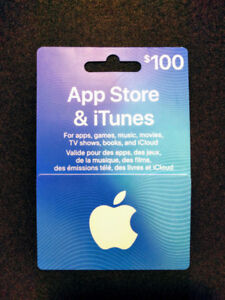 Apple App Store / iTunes $100 Gift Card