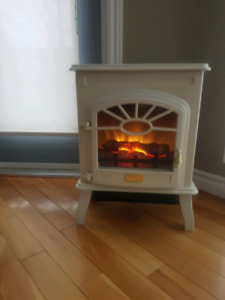 *PPU* Electric faux wood stove heater with flame accent