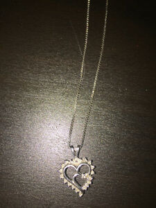 14k white gold heart necklace Edmonton Edmonton Area image 1
