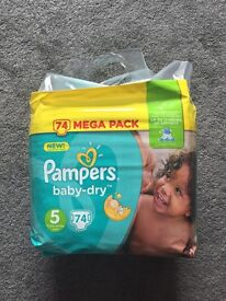 Pampers size 5 pack
