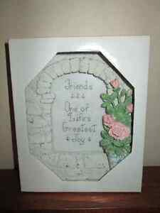 Giftable 'needlepoint' in frame.  In Box.