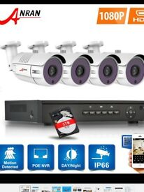 ANRAN 4CH 1080 HD POE SECURITY CCTV CAMERA SYSTEM OUTDOOR HOME 4MP NVR KIT HDMI