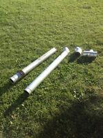 "4"" Pellet stove pipe, with two 45 deg/ and T w/Clean out"