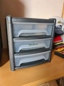 4 x 3 storage drawers