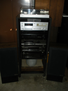 Vintage Yamaha Turntable, Cassette & 4 Stereo Receivers