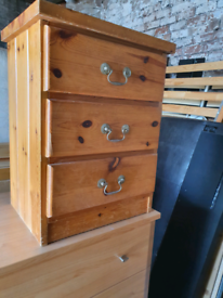 Pine bedside drawer. Delivery available extra cost