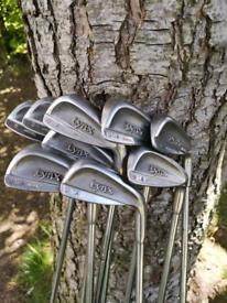 Vintage Embossed Lynx U.S.A Model Golf Clubs