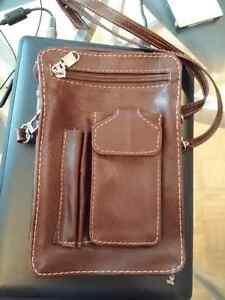 Small full leather bag for men