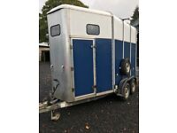 IFOR WILLIAMS 510HR Two Horse Trailer (Blue).