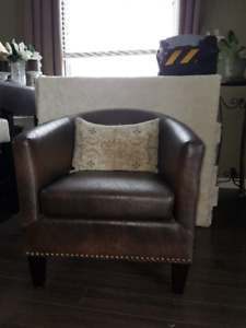 2 Brown Tub Chairs