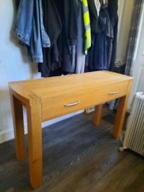 Oak console table sideboard Hall table