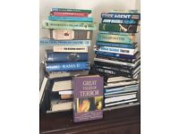 40 books ufo mysteries , criminal mysteries etc