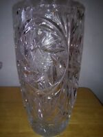 SOLID CRYSTAL VASE AND COVERED CANDY DISH, EXCELLENT X-MAS GIFTS