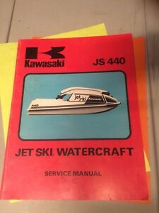 1977 Kawasaki Jet Ski Watercraft JS440 Service Manual