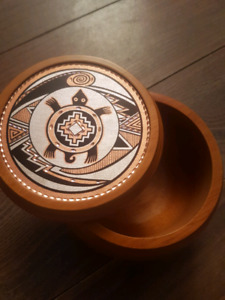 Turtle- Copper design wooden bowl