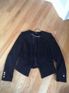 Veston noir haute couture