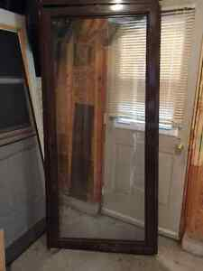 Glass screen door