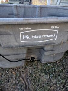 rubber maid water stock tank 100 gallon with water heater