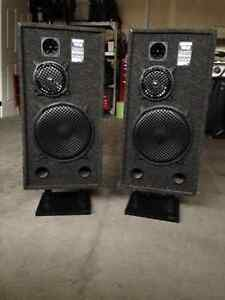 Audio Tech speakers with stands Kitchener / Waterloo Kitchener Area image 1