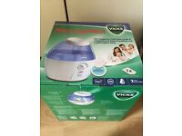 Vicks mini cool mist ultrasonic humidifier new in box unwanted prize