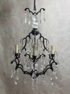 GORGEOUS 3-Light Crystal Chandelier – A MUST SEE!!