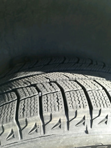 Winter tires and VW rims. 255/60R17. Michelin X-ice
