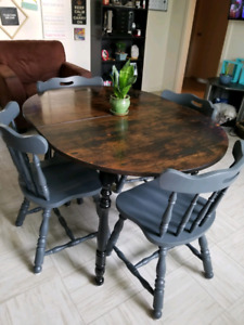 Refinished, Rustic Dining Room Set