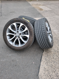 "17"" Nissan alloys + tyres"