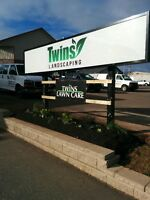 Twins Landscaping is booking for the season!