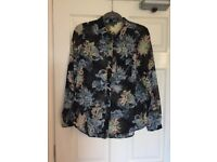 Warehouse Spikey Floral Blouse Size 12
