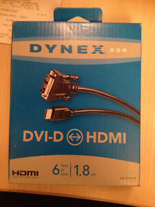 dynex DVI-D to HDMI Cable - Brand New in Box (have 2)