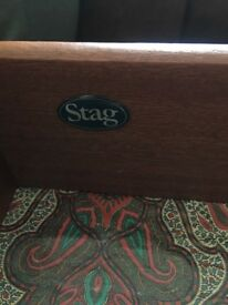 STAG bed site cabinet and chest of drawer with mirror