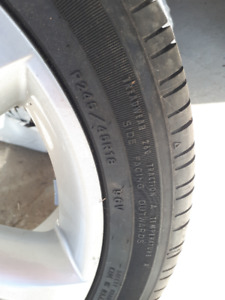 Eagle RSA Summer Tires (P245/45/18) With Alloy Rim and Spare