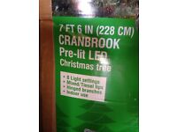 7ft 6in Christmas tree pre lit