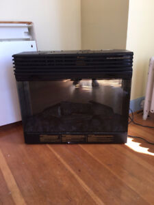 dimplex symphony glass front fireplace insert