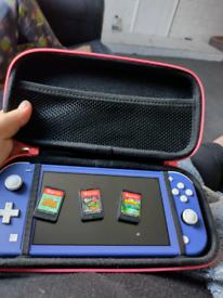 Blue Nintendo lite switch