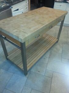 John Boos End-Grain Butcher Block Workbench, 60""