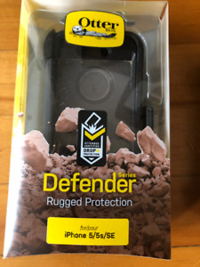 2 black Otter Box Defender Series cases for iPhone 5/5s/SE
