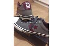 Size 6/7 converses grey and deep red