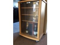 Cabinet for sale with opening glass doors
