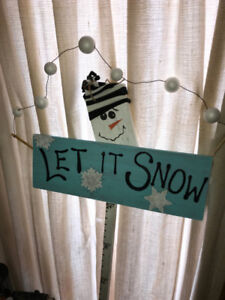 Let it snow outdoor sign