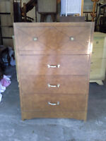 4 Drawer Tall Boy Dresser.